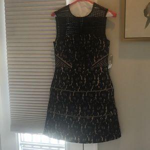 Aidan black lace dress